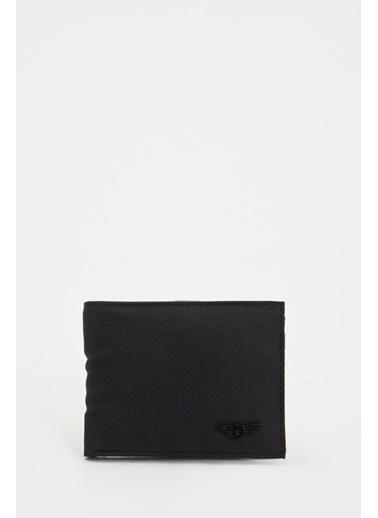 DeFacto Deri Görünümlü Cüzdan Siyah